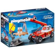 playmobil city action fire crane with pallet fork attachments 9465