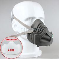 dust mask respirator 4 layer filter cotton dust-proof half face mask for daily use carpenter builder miner polishing