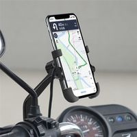 motorcycle universal aluminum phone holder with usb charger moto handlebar bracket stand for 4-6 inch mobile phone mount n14