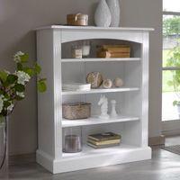 libreria baja de pino macizo blanca authentic style