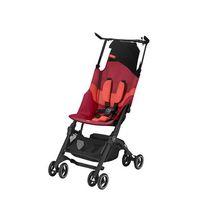 gb  silla de paseo plegable gold pockit plus all terrain- rose rojo