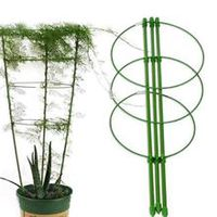 new durable climbing plant support cage garden trellis flowers tomato stand with 3 rings gardening tool tomato cage