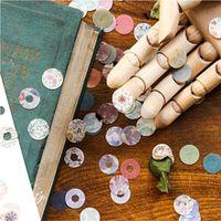 60 pcslot beautiful vintage round paper sticker diy scrapbooking diary album planner sticker post stationery