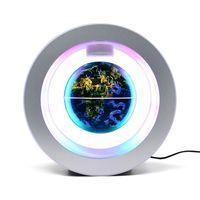 globo flotante constelacion globos del mundo con base multicolor led creativo 4 pulgadas anti gravedad levitacion magnetica mapa mundial giratorio para ninos regalo hogar oficina escritorio decoracion ensenanza demostracion