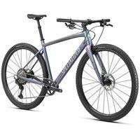 specialized bicicleta gravel diverge expert e5 evo s satin  flake silver  oil chameleon pearl  clean
