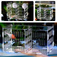 gran acuario acrilico caja incubadora de aislamiento cria de peceras criador para incubar colgante