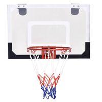 costway canasta de baloncesto de pared con pelota y bomba juego para ninos 45x30cm