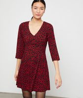 robe a imprime floral - jamie - 34 - negro - mujer - etam