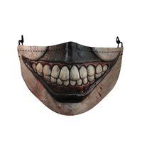 h-alloween scary printing pattern funda protectora para la cara universal antipolvo a prueba de viento lavable reutilizable funda para la boca