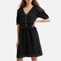 vestido corto de manga corta