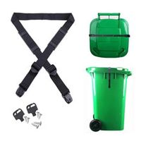 bin strap garbage lock trash can lid strap garbage can security system no more mess