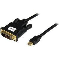 startechcom cable de 18m adaptador de video mini displayport a dvi-d - conversor pasivo - 1920x1200 - negro