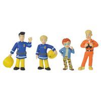 simba  bomberos sam - coleccion figuras serie 1 elvis penny tom y norman - de colores