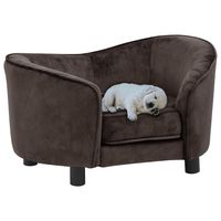 vidaxl sofa para perro felpa marron 69x49x40 cm