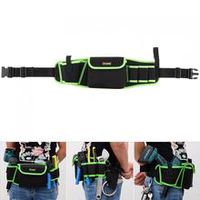 multifunctional oxford cloth waterproof waist tool bag with 4 holes 1 pocket and 45cm hanging strap for maintenance tools