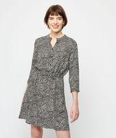 robe smokee imprime fleuri - naif - 42 - negro - mujer - etam