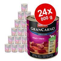 pack ahorro animonda grancarno original adult 24 x 800 g - vacuno y ciervo con manzana