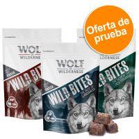 wolf of wilderness wild bites - pack de prueba  - pack mixto senior 2 x 180 g conejo y vacuno