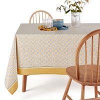 mantel estampado con revestimiento algodon ligero lemoncurd
