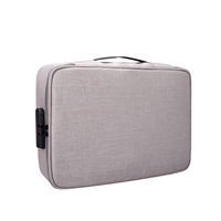 zj01 impermeable polyester multi-layer document storage bolsa laptop bolsa para todos los tamanos de computadoras portatiles con contrasena cerradura