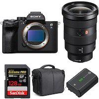 alpha a7s iii  fe 16-35mm f28 gm  sandisk 128gb extreme pro uhs-ii 300 mbs  np-fz100  bolsa  2 aros de garantra