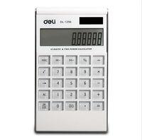 deli double power pantalla grande calculadora ultrafina moda blanco computadora