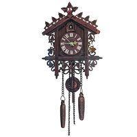 pareddecucorelojparedde artesania colgante reloj arte de la decoracion vendimia bird swing madera cuckoo reloj