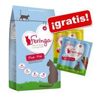 feringa 2 kg pienso sin cereales  2 snacks feringa gratis - adult con pollo y trucha