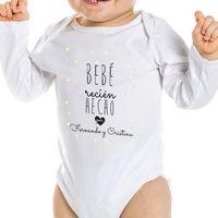 body personalizado bebe recien hecho manga larga