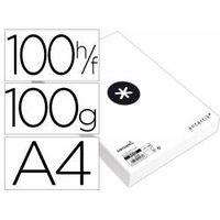 papel liderpapel a4 antartik 100gm2 paquete de 100 hojas blanco liso