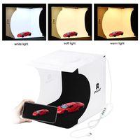 puluz mini kit de fondo de foto plegable para caja de luz