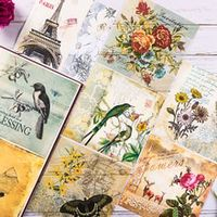 8pcspack vintage bird english letters vellum paper pack for scrapbooking happy planner card making junk journal project