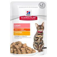 hills adult light para gatos - 48 x 85 g pollo