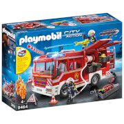 playmobil city action fire engine with working water cannon 9464