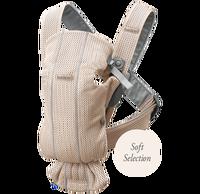 babybjorn mochila porta bebe mini rosa perla 3d mesh