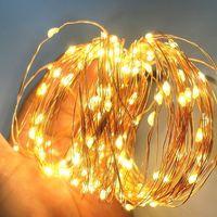 cadena de luz usb blanca calida de 5 m con caja de bateria brillante constante 50 cuentas de lampara alambre de cobre decoracion romantica