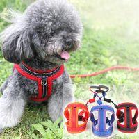 mascota perro gato malla correa comoda y transpirable perro traccion cuerda ajustable cuerda hebilla perro cadena