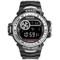 smael 1626 reloj deportivo multifuncional para hombres y mujeres reloj de pulsera unisex de moda con 50m impermeable  luminoso  alarma  sincronizacion  semana  visualizacion de fecha