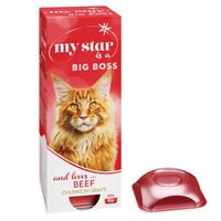 my star is a big boss con vacuno para gatos -pack  30 x 85 g