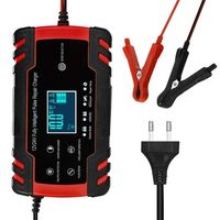 cargador de reparacion de pulso de 12v 24v con pantalla lcd cargador de bateria de automovil para motocicleta