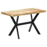 vidaxl mesa de comedor madera maciza de mango en bruto 120x60x75 cm