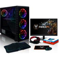 fierce apache rgb pc gamer - 46ghz hex-core intel core i7 8700 240gb ssd 1tb hdd 16gb nvidia geforce gtx 1650 4gb win 10 teclado raton monitor de 215 pulgadas auriculares 1136810