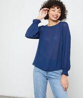 blusa abotonada a la espalda - leonie - 34 - azul - mujer - etam