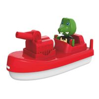 aquaplay barco de bomberos con figura de juego - de colores