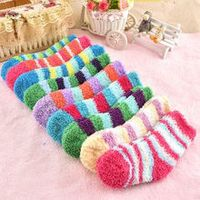 winter to keep warm coral fleece fashion able sweet candy colors baby socks for 0-3 year baby boy girls socks