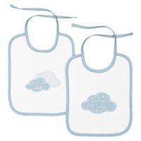 lote de 2 baberos para bebe en las nubes