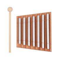 timbres de madera de 7 tonos con instrumento de percusion de mazo