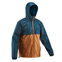 chubasquero impermeable montana y trekking quechua nh100 hombre azul