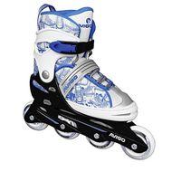 avigo - patines en linea ajustables blanco y azul - talla 3640