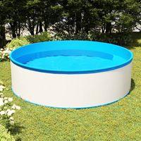 vidaxl piscina de chapoteo blanca 350x90 cm